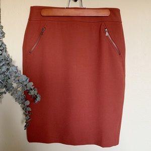 Ann Taylor Loft burnt orange pencil skirt sz4 NEW